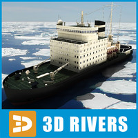 Icebreaker Kapitan Khlebnikov by 3DRivers