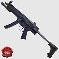 realistic submachine gun a3 obj