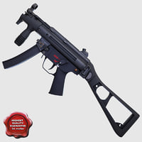 3ds max realistic submachine gun k02