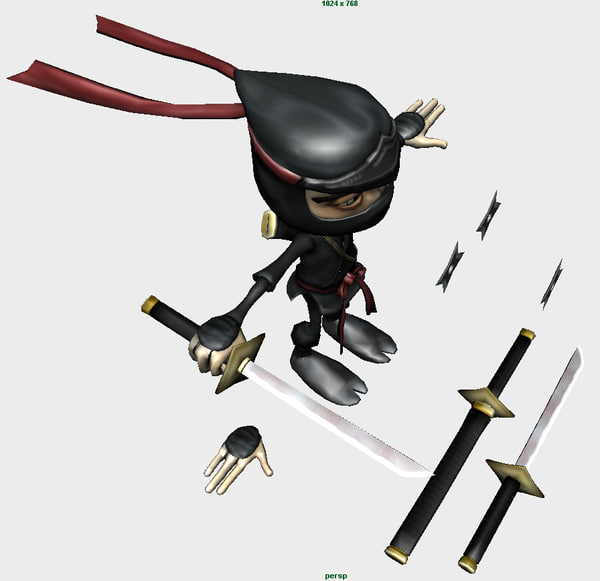 cartoon ninja character obj - Ninja Master... by Mantifang
