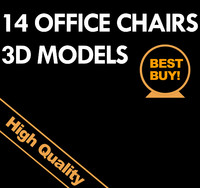 3d model office chairs