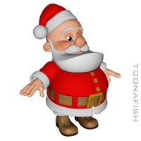 cartoon character santa claus lwo