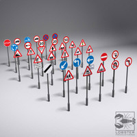 uk street signs 3d model