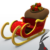 3ds max santa claus sleigh