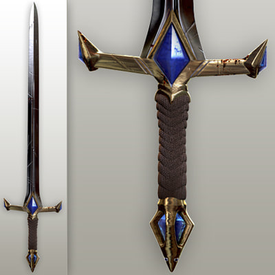 3d fantasy sword - Fantasy knight sword... by zivcg