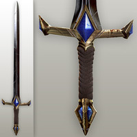 Fantasy knight sword