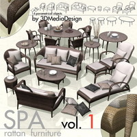 3DMD SPA1 - Rattan Exterior Furniture Library