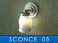 sconce bulb 3d model