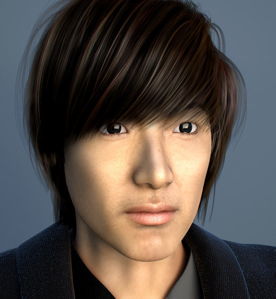 3ds max korean hair - korean.zip... by Antonio.max
