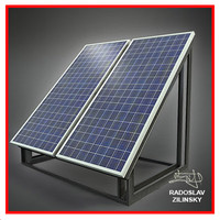 SOLAR panel small 05 (HIGH detail)