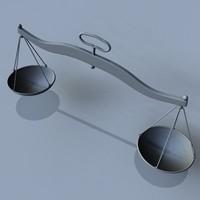 3d model balance scale