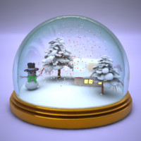 3d christmas snowglobe model