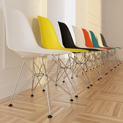 vitra chair eames plastic 3d model - Eames Plastic Side Chair DSR max.rar... by PencilBox