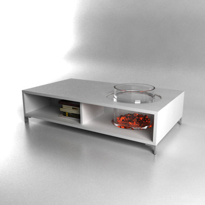 Http Www Turbosquid Com 3d Models 3d Contemporary Coffee Table Fireplace 498193
