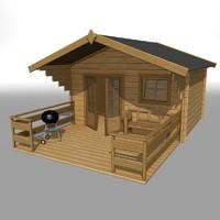 3dsmax wooden garden house