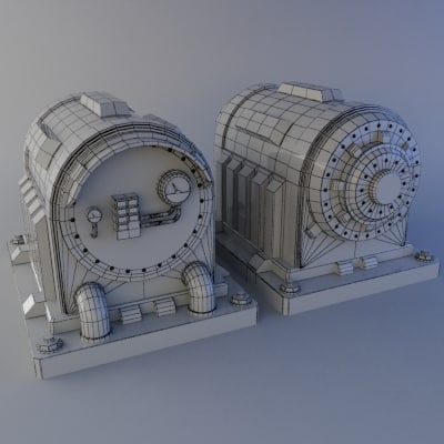 3ds max sci-fi generator - Sci-fi Power Generator... by William Riker