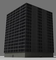 3d hi-rise building model