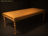 3d model shelton diner table 01