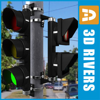 Traffic lights 01 by 3DRivers