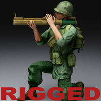 US Vietnam War Soldier Rigged