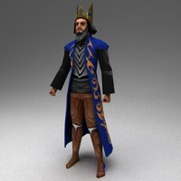 rigged warlock 3d model