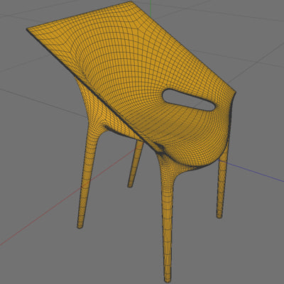 3d model of dr yes kartell chair - Dr YES chair... by polysense