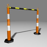 3d model barrier fence