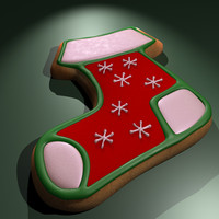 christmas cookie 3d model