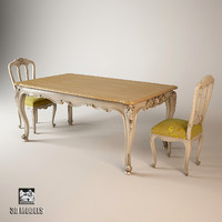 salda dining table 3d fbx
