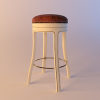 mascheroni president barstool bar stool 3d model