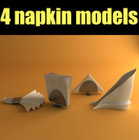 set napkins 3d max