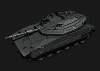 Merkava MK IV BattleTank - Low poly