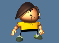 3d model cartoon guy