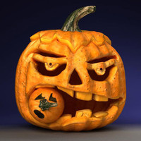3d model pumpkin head
