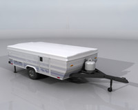 Pop-up Camper 3d model