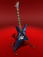jackson warrior xt guitar 3d max