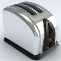3d model toaster toast