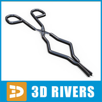 tongs chemistry lab 3d model