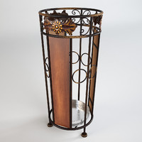 ornamented umbrella holder 3ds