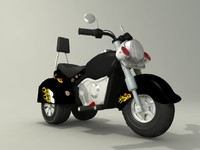 toy motorcycle 3d max