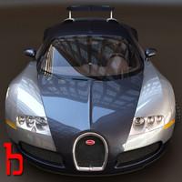 bugatti veyron 3d obj