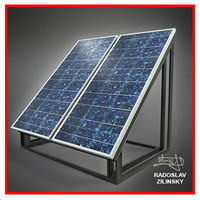 SOLAR panel small 04 (HIGH detail)