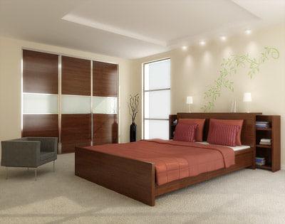 bedroom scene 3d model 2