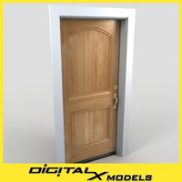 residential entry door 18 3d model