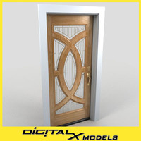 3d residential entry door 20 model
