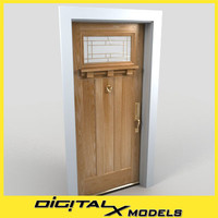 3ds max residential entry door 23