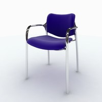3d model herman miller aside stacking chair