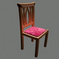 antique chair 3d model
