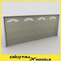 residential garage door 02 3d max