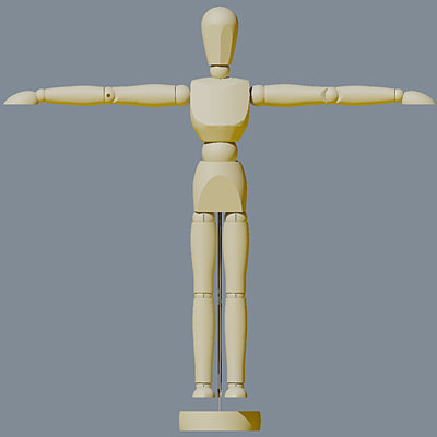 artist pose figure 3d 3ds - Artist Pose Figure Model... by HelloHema